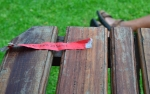 The red ribbon that determinse where you will sit