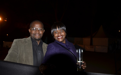 Rodrick Longwe, POVO business advisor with his wife Chipo