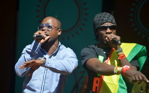 Ba Shupi and Stunner on stage