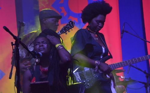 Busi Ncube with Edith We Utonga at HIFA