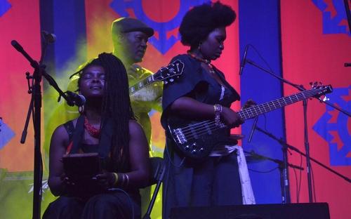 Legendaruy Busi Ncube with Edith We Utonga at HIFA