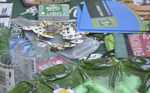 Some merchandise sold at the Environment Africa stall