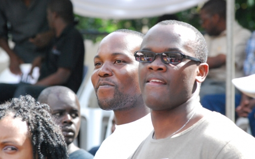 Hamilton Masakadza enjoying the Winky D concert at HIFA
