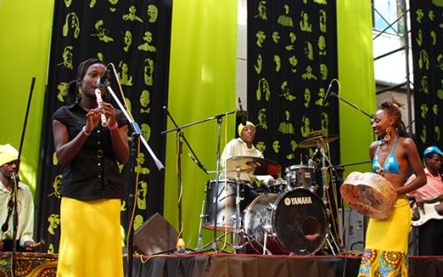 Hope Masike on stage