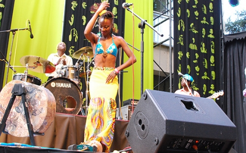 Hope Masike dances at HIFA