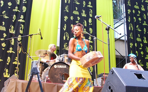 Hope Masike on the mbira