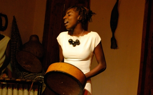 Hope Masike at the launch of her debut Album at the Gallery Delta, Zimbabwe