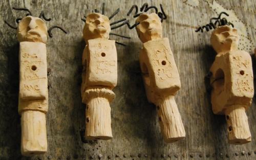 Ceramic figurines by Masimba Hwati