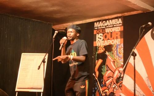 Godobori spits his poem