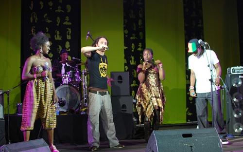 TJ Dema, Comrade Fatso, Tina Watyoka and Outspoken