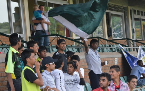 The Pakistan contingent was much bigger