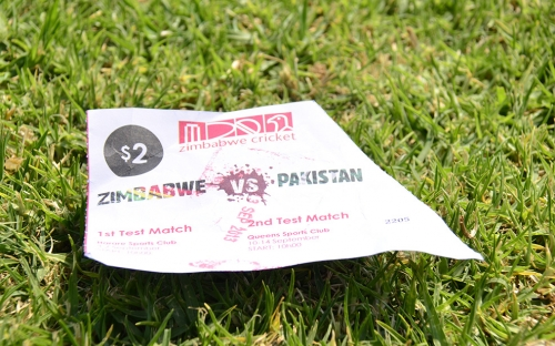 The ticket for the test series.