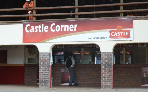 Empty bar behind Castle Corner, a sure sign of the times!