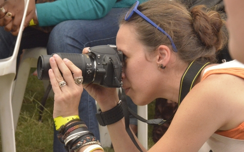 One of the few ladies shooting at the festival, Canon