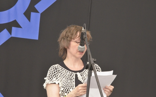 Sylvia Geist from Germany at HIFA, Zimbabwe