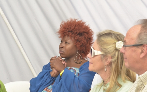 Prudence Katomeni Mbofana in the audience
