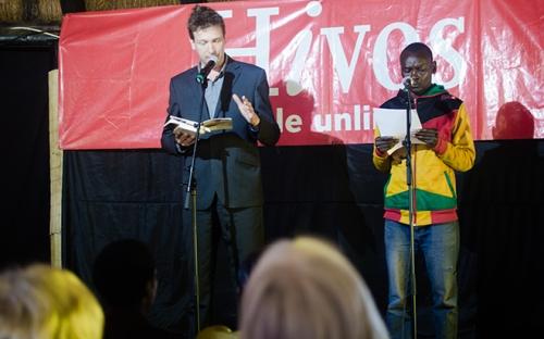 """Erik Lindner with Biko """"Godobori"""" Mutsaurwa"""