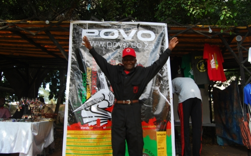 The HIFA security joined in the festivities at the POVO Stall