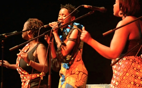 Kudzai Sevenzo at the Woman of Note concert, Harare, Zimbabwe