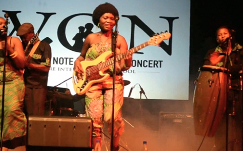 Edith we Utonga at the Woman of Note concert, Harare, Zimbabwe