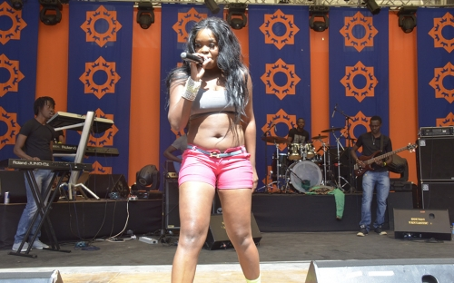 mampi scantily dressed on stage