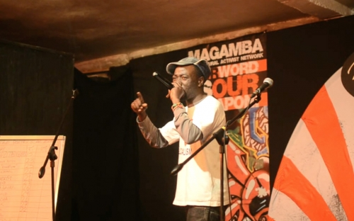 Aerosol, Zimbabwe at Shoko Poetry Slam Express