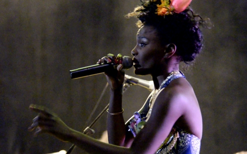 Shingai Shoniwa of The Noisettes at HIFA, Zimbabwe