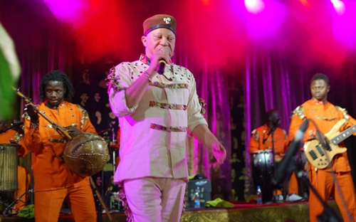 Salif Keita on stage at HIFA