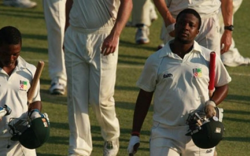 Tinotenda Mawoyo walks off the feild unbeaten, against New Zealand A