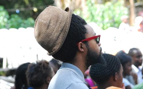 Lindani Buthelezi lead singer of the Blk Jks