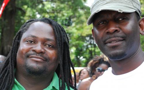 Graphic designers Paradzai Makosa and Archibald Karadzandima