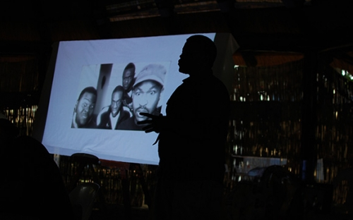 Rufaro Dhliwayo presenting at the animation workshop
