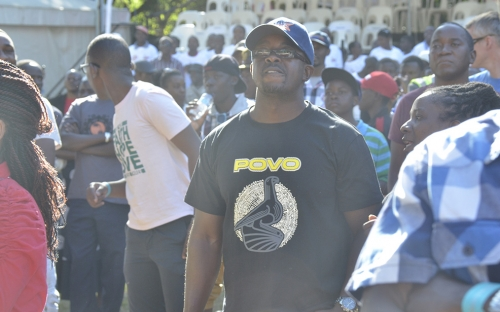 A fan rocking POVO gear