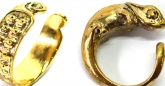 Karma Chameleon eye half cuff and ring in brass