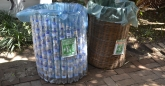 Bins made from recycled material