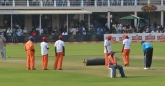 Ground staff looked smart with their Eagles overalls and Econet T-shirts and caps