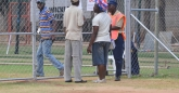 The fencing areas which have made HSC quite an eyesore. Security manning the entrance to the embankment