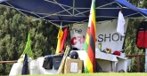 The CricShop had their stall at the grass embankment, selling various merchandise and cricket kit.