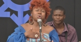 Prudence Katomeni Mbofana sings here heart out