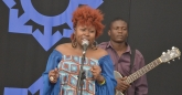 Prudence Katomeni Mbofana on stage