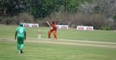 Former Zimbabwe captain Elton Chigumbura prepares to play a shot.