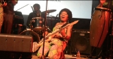 Edith weUtonga gets down at the Woman of Note concert, Harare, Zimbabwe