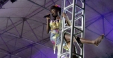 Shingai 'Shoko' Shoniwa taking an ariel view of the crowd