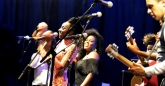 Hope Masike with The Noisettes ate HIFA, Zimbabwe