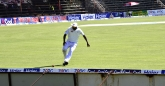Shingi Maskadza not so lucky as he is sledged by the crowd.