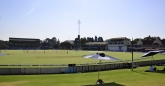 Harare Sports Club as seen from the grass embankment.