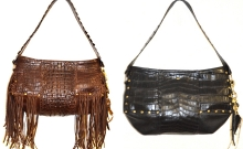 Shape Up crocodile hornback and belly shoulder bag