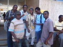 Artist, designers, illustrator, and film maker - Left to right: Masimba Hwati, Paul Maposa, Baynham Goredema, Ryan Chokureva, Langton Chari, Kennywell Satumba