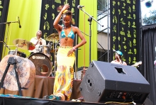 Hope Masike dances at HIFA