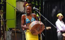 Hope Masike performing at HIFA, Zimbabwe